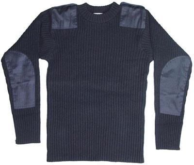 PULL COMMANDO COL ROND LAINE COTE PLATE - null
