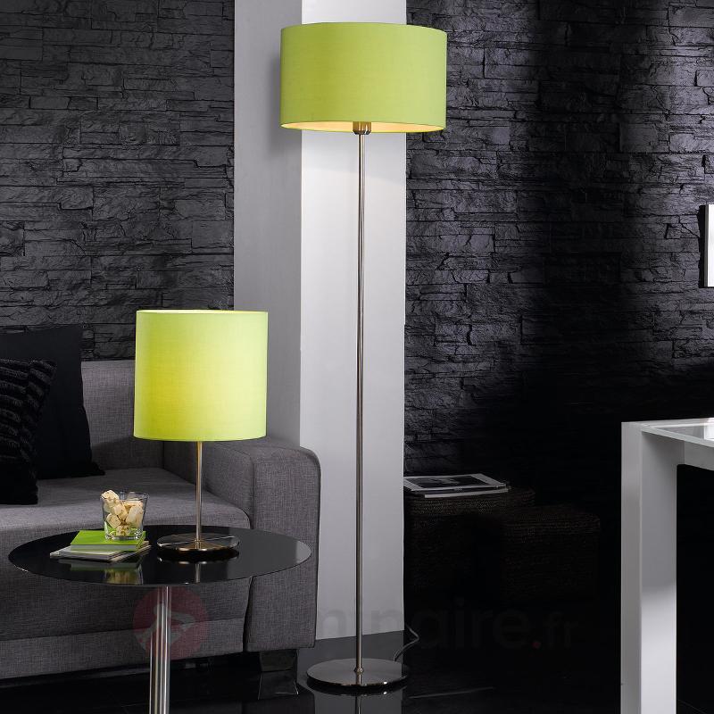 Lampe à poser textile décorative Estadio en vert - Lampes à poser en tissu