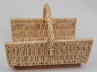 Panier à bois osier blanc  - L.50cm