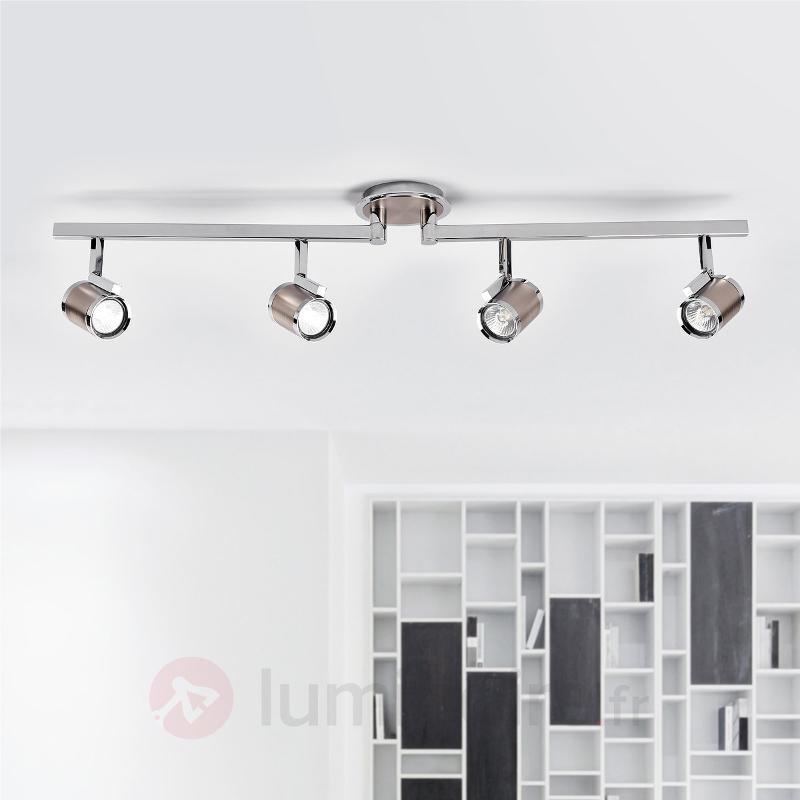 Plafonnier avec spots Jordis à quatre lampes - Spots et projecteurs halogènes