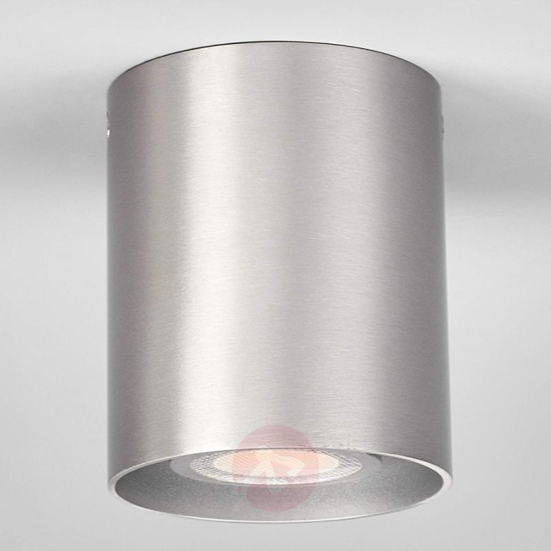 Aluminium-grey ceiling spotlight Carson, round - indoor-lighting