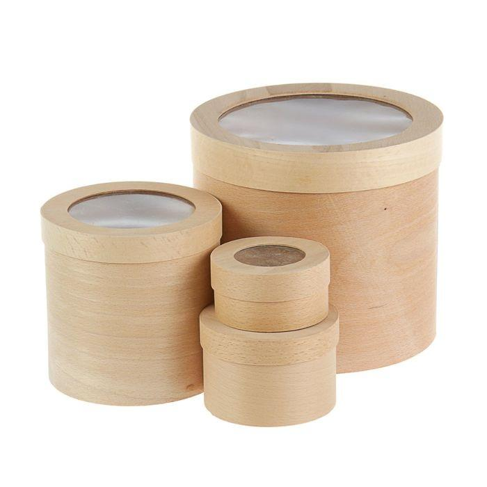 Шляпные коробки недорого - круглые тубусы коробки