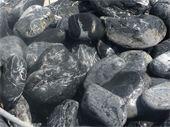 Galets - noir ebano 100/200 : gros galet noir