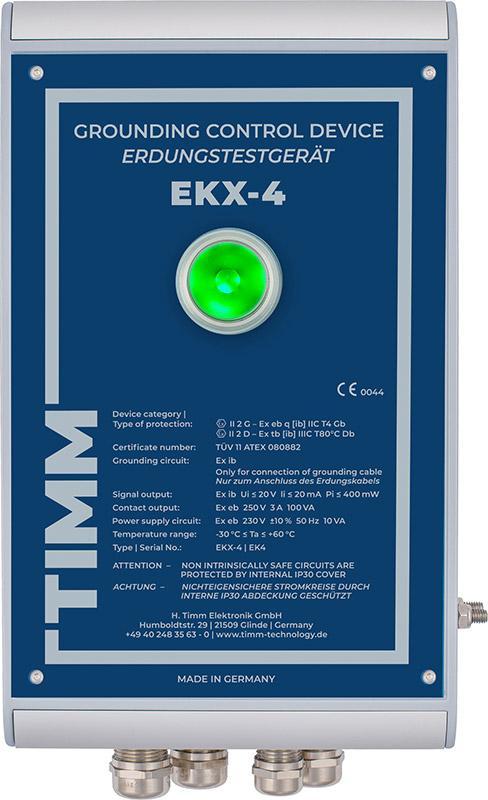 Grounding Control Device EKX-4 - Monitored static grounding of tank trucks, silo trucks and railway wagons