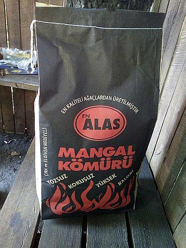 Hardwood charcoal for BBQ - in paper craft bags from 2kg to 15kg