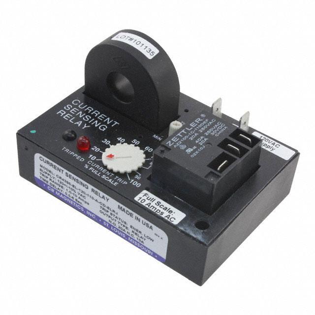 RELAY AC CUR SENS 120VAC CHAS MT - CR Magnetics Inc. CR4395-EL-120-110-A-CD-ELR-I