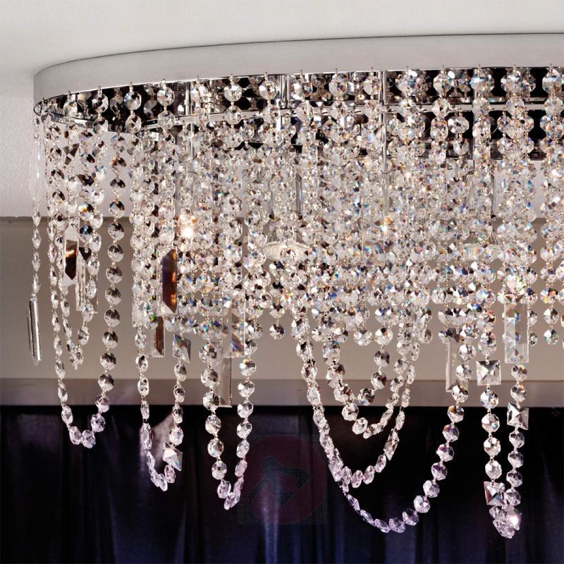 Jevana Ceiling Light Sparkling Chrome Look - design-hotel-lighting
