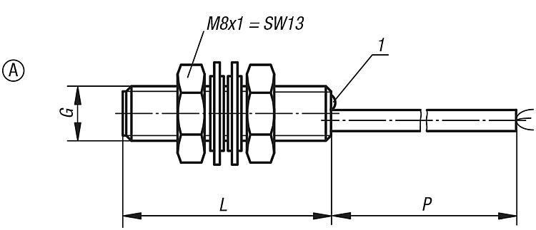 Détecteur de proximité inductif à corps fileté - Détecteur de proximité et connecteur