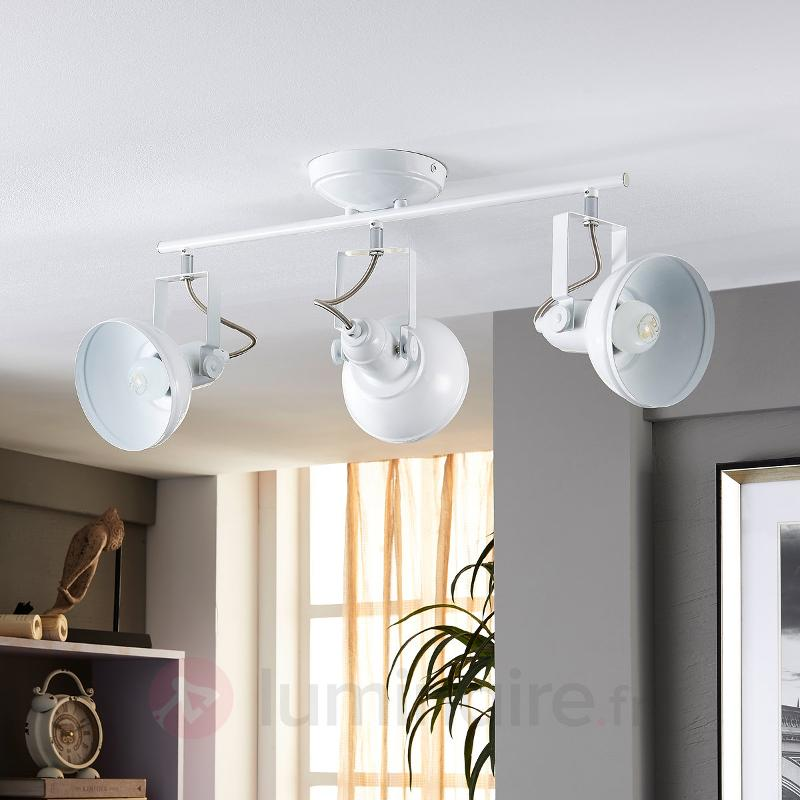 Spot de plafond LED blanc Tameo à 3 lampes - Plafonniers LED