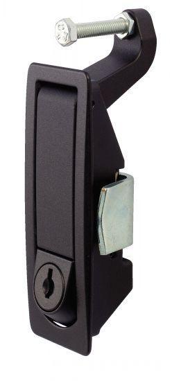 Loquet à compression - affleurant, à serrage par levier réglable, verrouillable