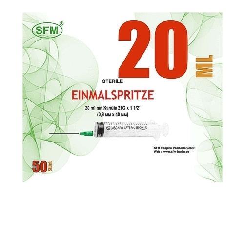 SFM Einmalspritzen 20ml mit 21G Kanüle (50) - null