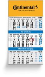 3-Monatsplaner - 3-Monats-Wandkalender Vario 14 - 6-sprachige Ausgabe
