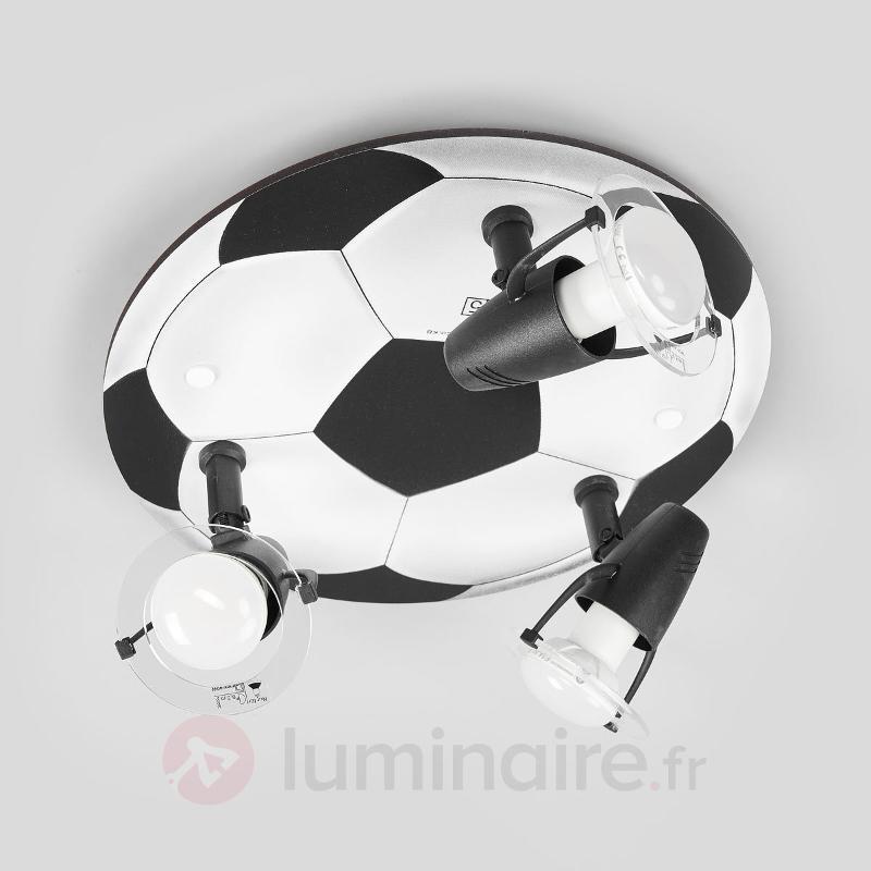 Plafonnier Football 3 lampes - Chambre d'enfant