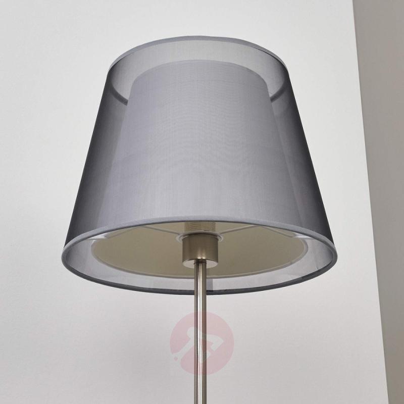 Attractive floor lamp Weni with black lampshade - indoor-lighting