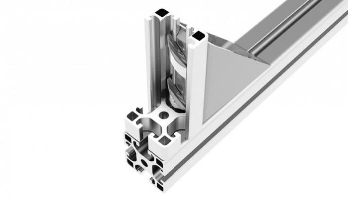 Alu Connection Angle M  (Set) - 90° Connectors to connect two aluminum profiles quickly