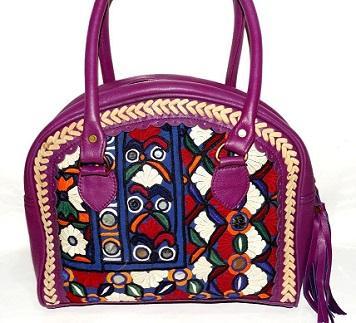 Leather Banjara Handbag Real Hand Embroidery Boho bag