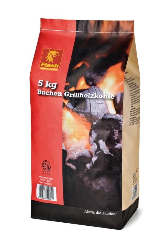 FLASH Grillholzkohle Buche 5 kg - null