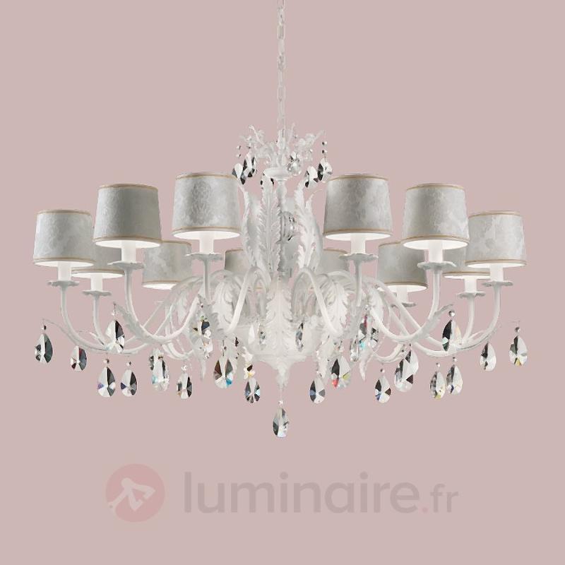 Lustre en cristal Angelis blanc à 12 lampes - Lustres classiques,antiques