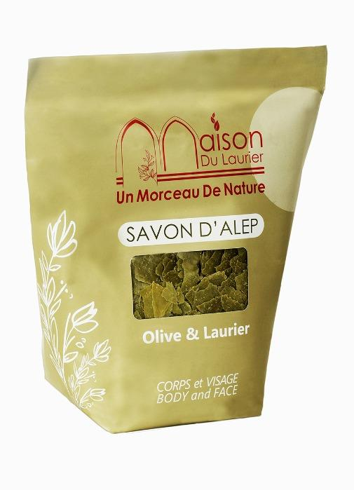 Savon d'Alep  - Savon d'Alep en paillettes / copeaux 1kg Olive & Laurie