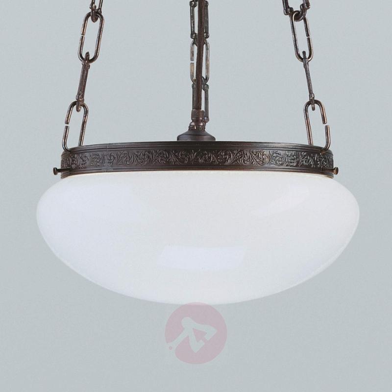 Verne antique-effect hanging light - design-hotel-lighting
