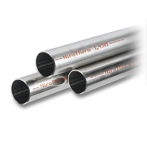 NiroTherm® Systemrohr in Stangen 6m - Hochwertige Edelstahl-Pressfittings und Edelstahlrohre 1.4301 (AISI 304), EPDM