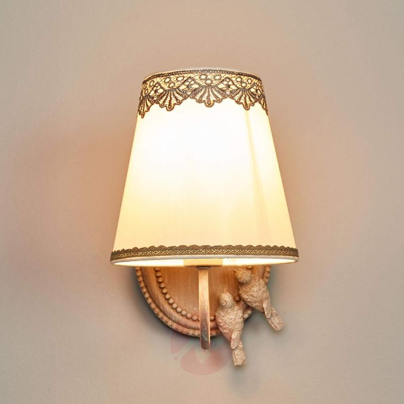 Bouquet - wall lamp with cute lace finish - indoor-lighting