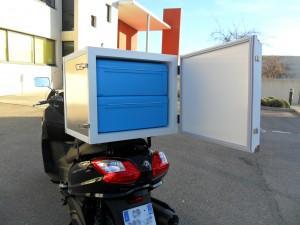Caisson isotherme spécial scooters et motos