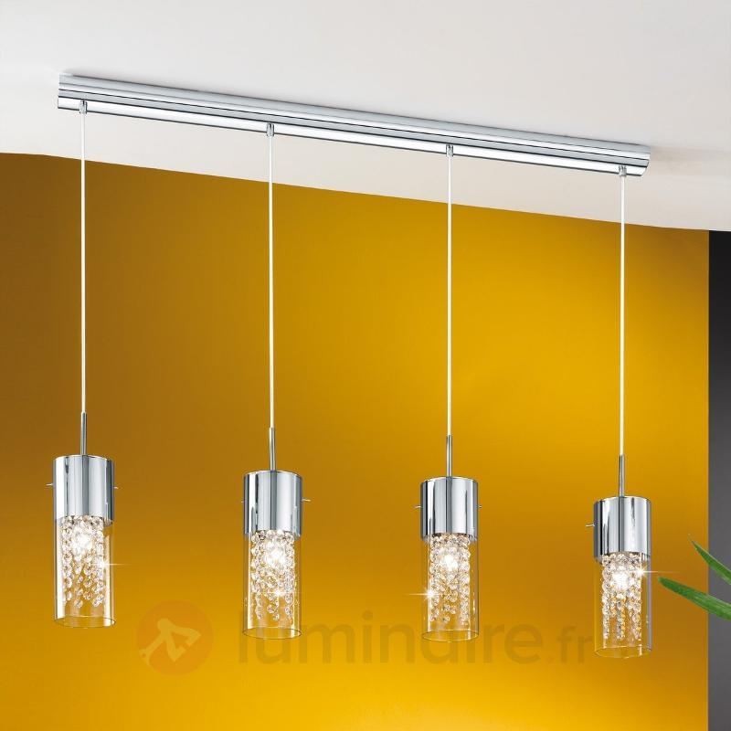 Charmante suspension Diamond 4 ampoules - Suspensions en cristal