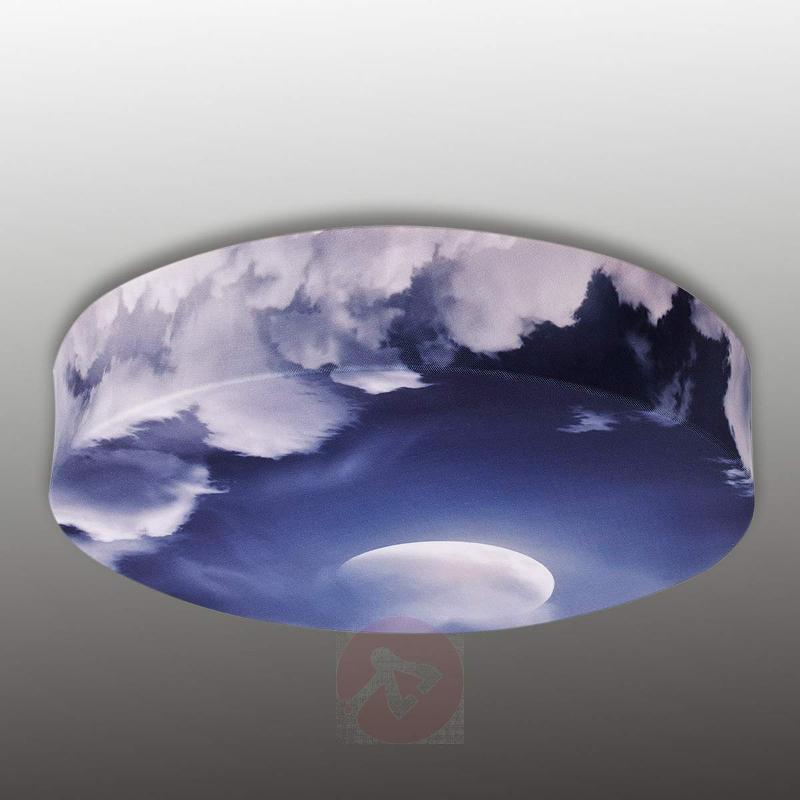 Textile ceiling light Bio with moon motive - Ceiling Lights