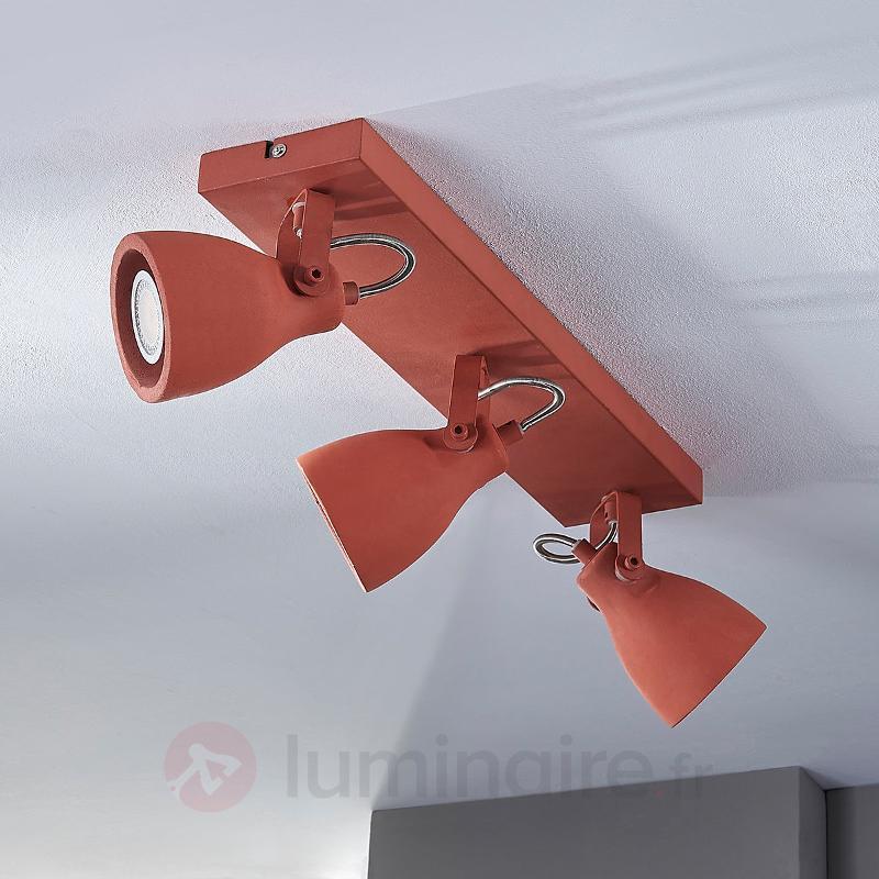 Projecteur de plafond à LED à trois lampes rouge - Spots et projecteurs LED
