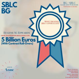 5 Billion Euros Face Value SBLC Sale / Lease -