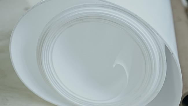 Строганый лист PTFE - листы 0.2-6 мм, ширина до 1500 мм