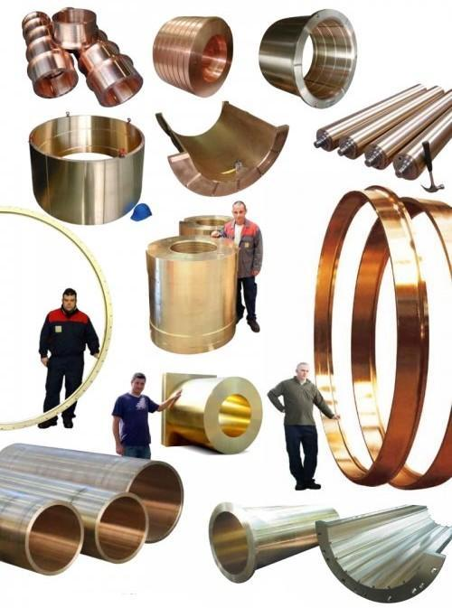 Castings in copper based alloys - centrifugal castings in bronze, brass, nickel aluminium bronze, pure coppers...