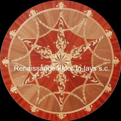 Parquet andwood floor medallion