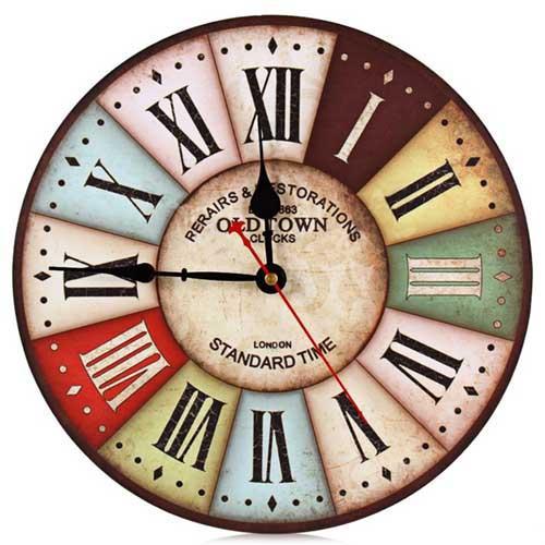 Wooden Printed Wall Clock - Custom Design Wooden Wall Clock