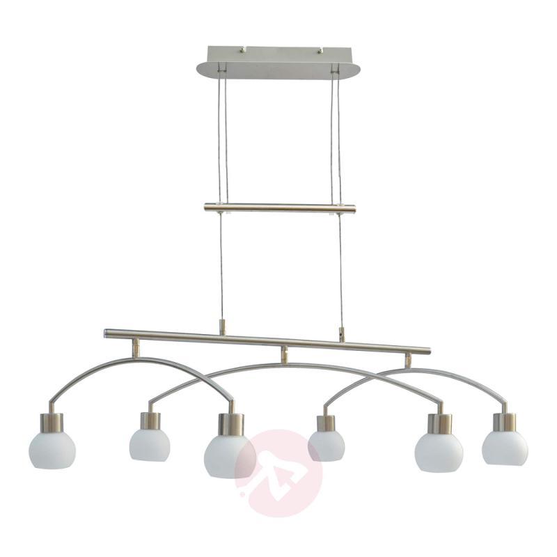Adjustable LED pendant lamp Jelia, 6-bulb - indoor-lighting