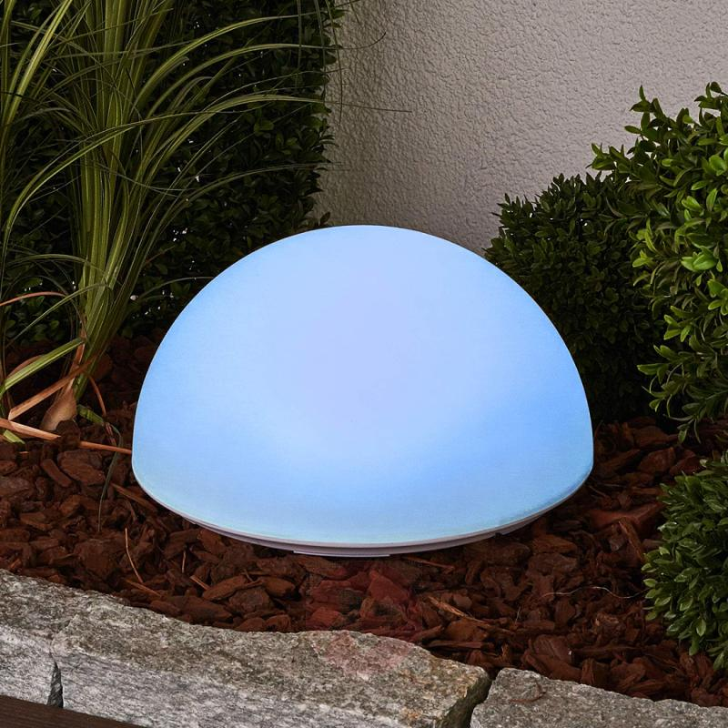 Beautiful RGB LED solar lamp Lounis - outdoor-led-lights