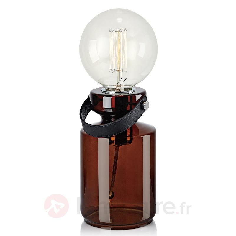 Lampe A Poser Adrian Avec Pied En Verre Lampes De Chevet Luminaire