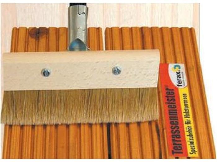 Terrassenpflege Produkte - Streichbürste für Pflege Öle für Terrassen 21 cm breit