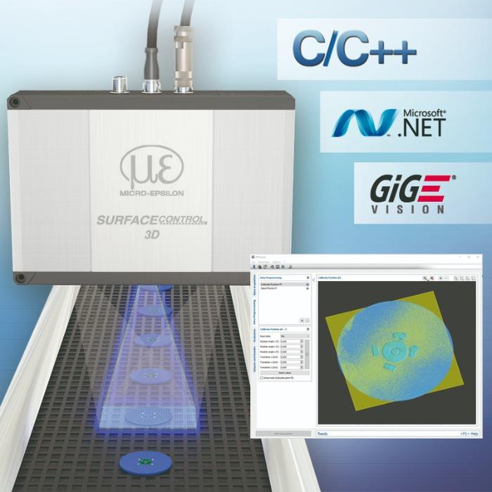 3D Sensor for geometry, shape and surface inspections  - High precision inline 3D measurements