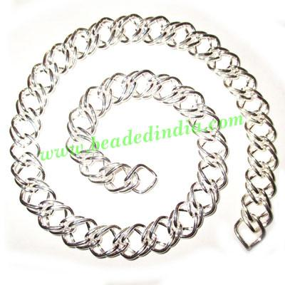 Silver Plated Metal Chain, size: 1x12mm, approx 9.6 meters i - Silver Plated Metal Chain, size: 1x12mm, approx 9.6 meters in a Kg.