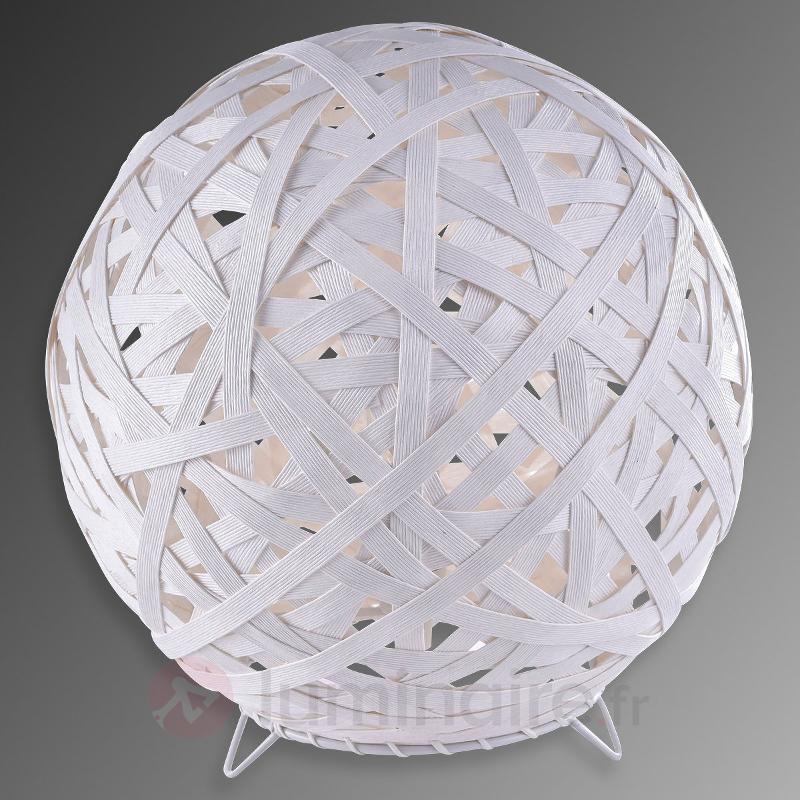 Lampe à poser ronde Kaki au look enveloppé - Lampes de chevet