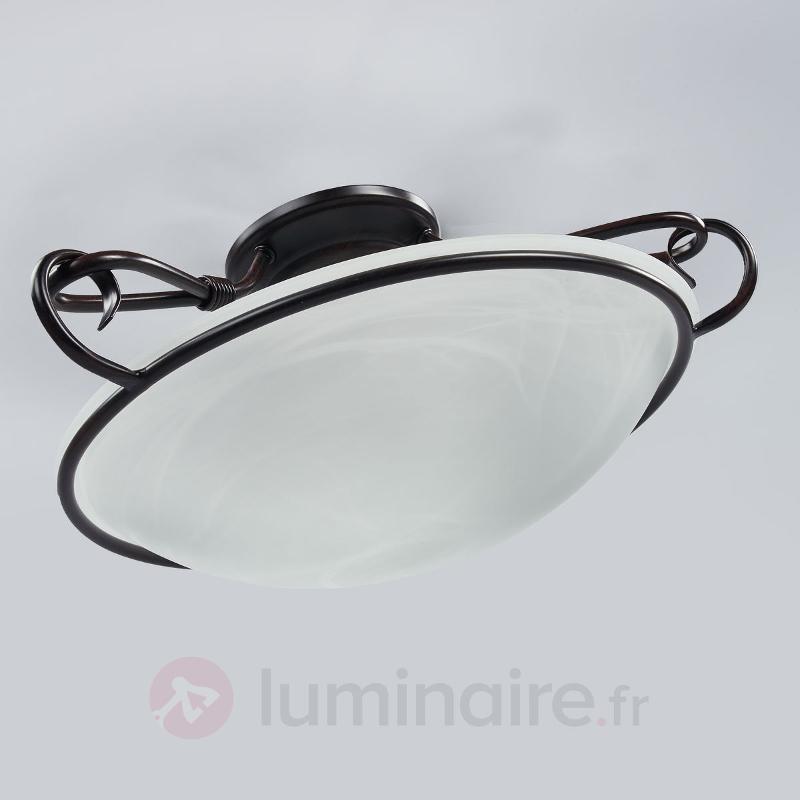 Plafonnier décoratif COMO aspect rouille antique - Plafonniers classiques, antiques