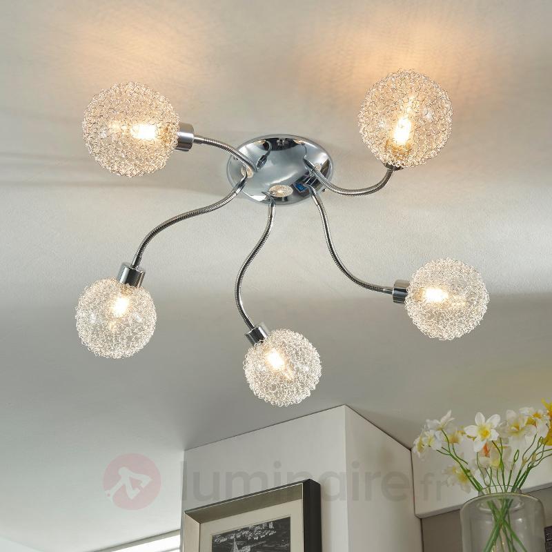 Plafonnier LED à cinq lampes Ticino - Plafonniers LED