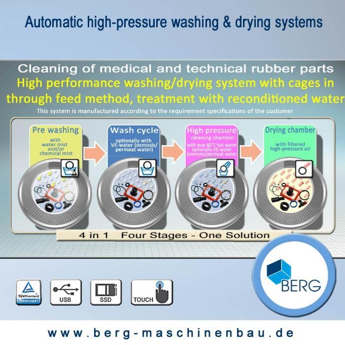 Système de lavage & de séchage automatique - Installation de lavage automatique à haute pression dans un processus continu