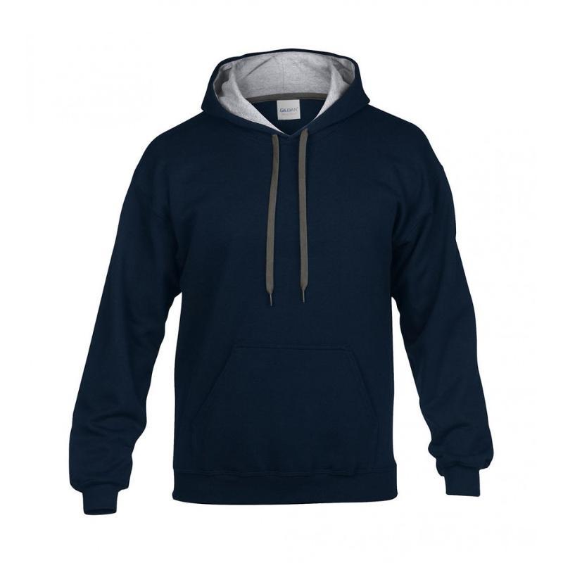 Sweat shirt homme Gildan Contraste - Avec capuche