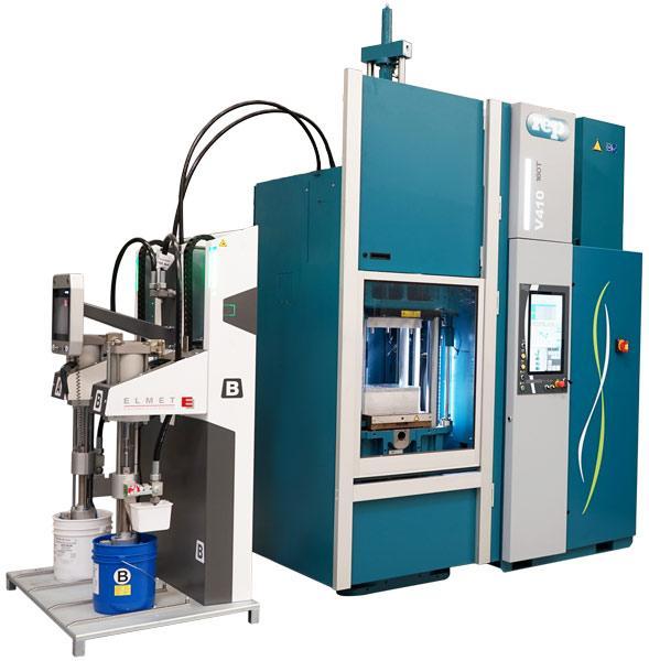 Presses à injecter le caoutchouc verticales - Modèle V410 LSR - 1 600kN