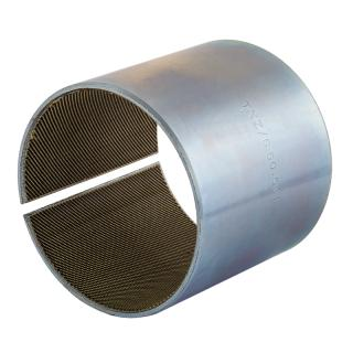 Wrapped composite sliding bearing  - TEX-MET® steel / PTFE fibres fabric*
