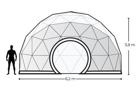 Alquiler Domos Geodésicos Geodomes G30 - Domosgeodesicos