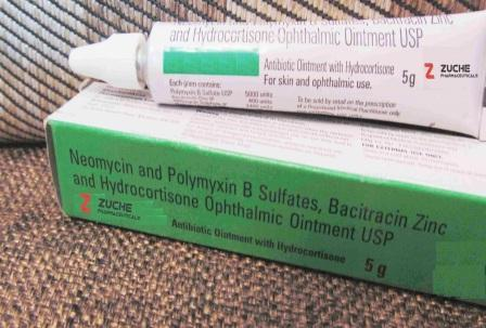 Neomycin Ointment - Neomycin and Polymyxin B Sulfates, Bacitracin Zinc and Hydrortisone Ophthalmic